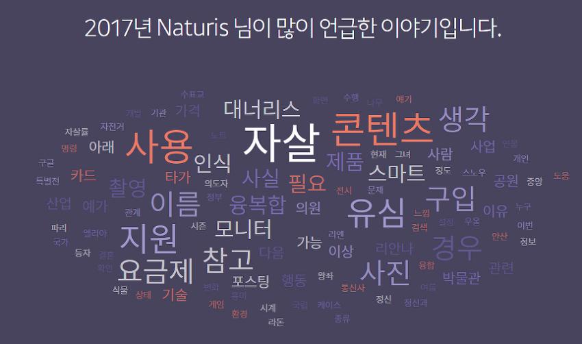2017년 naturis 블로그 결산