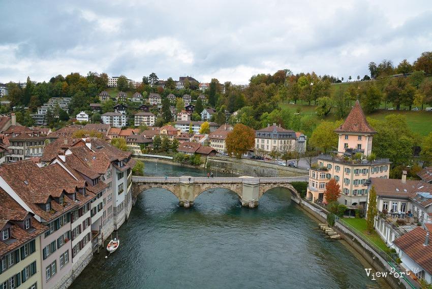 베른 곰공원과 니데크다리에서 본 아레강의 환상적인 모습(스위스여행지)
