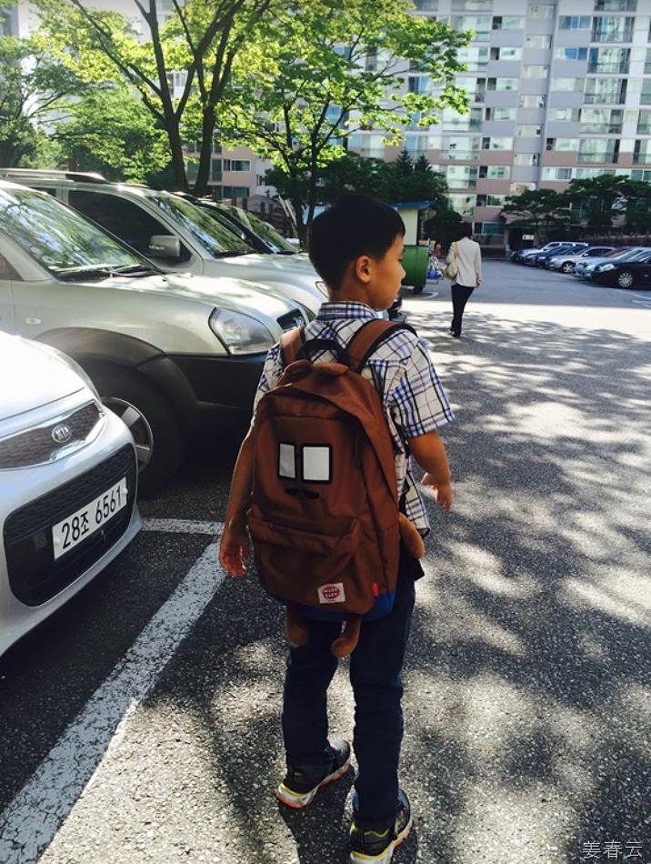 강준휘 어린이가 메본 귀여운 가방 - 외승모가 뉴욕 출장에서 사다 주신 귀여운 패션 아이템