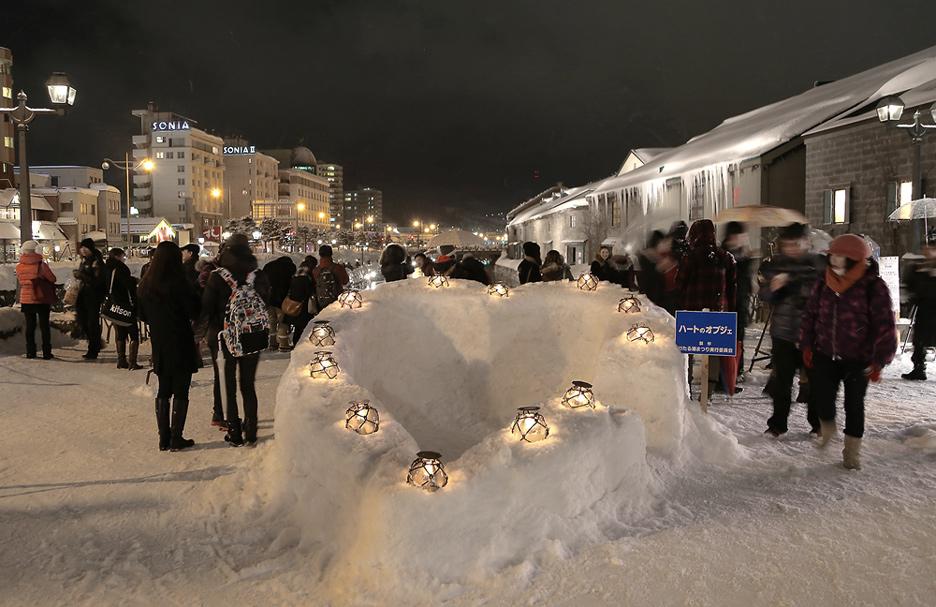 [홋카이도 여행] 오타루 눈빛거리 축제, 고요한 밤 반짝이는 오타루