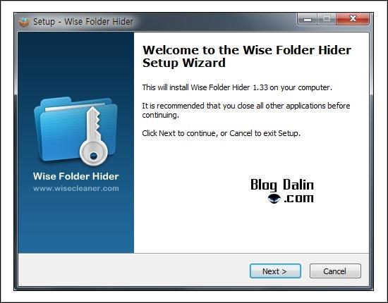 폴더 잠금 프로그램 Wise Folder Hider v1.33.69 설치과정