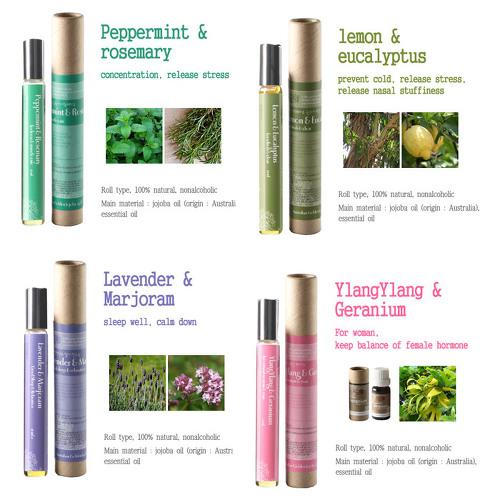 Roll on aromatherapy made in Korea, OEM, jojoba oil, essential oil