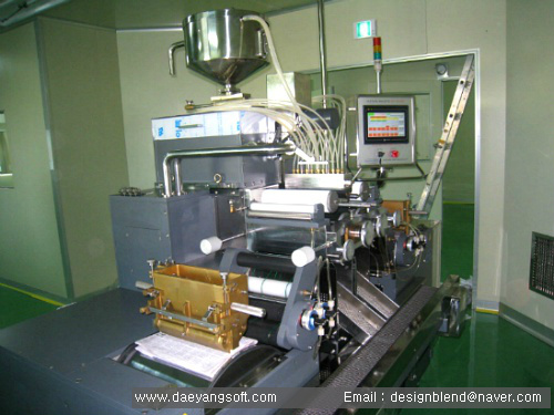 Supplied softgel machine and tumbling dryer
