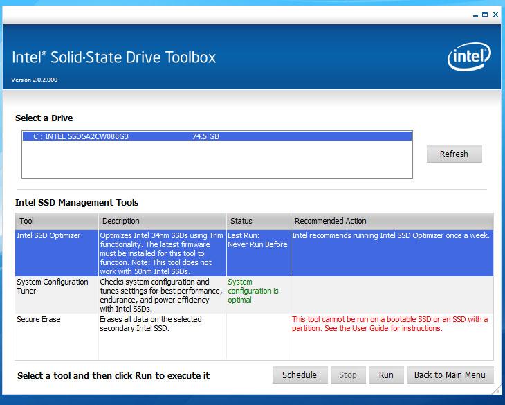 SSD 최적화, SSD최적화, 최적화, 옵티마이저, 툴박스, 인텔 툴박스, intel toolbox, intel, 인텔, IT, 제품, 리뷰, 사용기, 성능,SSD 최적화를 위해서는 몇가지 작업을 해 놓아야 합니다. 이번에 인텔 SSD 320 Series 를 쓰면서 실제로 써보고 꼭 해야하는 작업을 정리를 해보았습니다. 초보자도 천천히 따라하면 SSD 최적화 작업이 가능하도록 쉽게 만들었으니 천천히 따라하시기 바랍니다. SSD 는 지금 가격이 저렴한 형태들은 모두 MLC 타입입니다. 가격에서 경제성을 가지는 타입이죠. 다만 성능이나 안정성등이 SLC 타입에 비해서는 떨어집니다. 수치상으로는 10배정도의 차이가 있습니다. 물론 SLC 타입은 상당히 고가입니다. MLC 도 물론 예전에 비해서는 4K 의 속도를 많이 증가시키고 프리징현상도 많이 사라졌으며 가격도 많이 안정화가 되었죠. 그만큼 SSD 의 사용율이 높아졌는데요. MLC 타입의 SSD를 대부분 사용을 하므로 아래의 작업을 해주는것이 SSD 의 성능 및 안정성을 지키는 준비과정입니다. 반드시 천천히 읽어보시고 SSD 최적화 작업을 하시기 바랍니다.