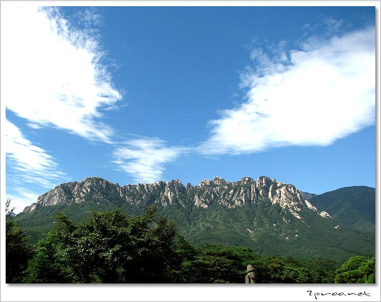 설악산 풍경, 울산바위 전경 사진
