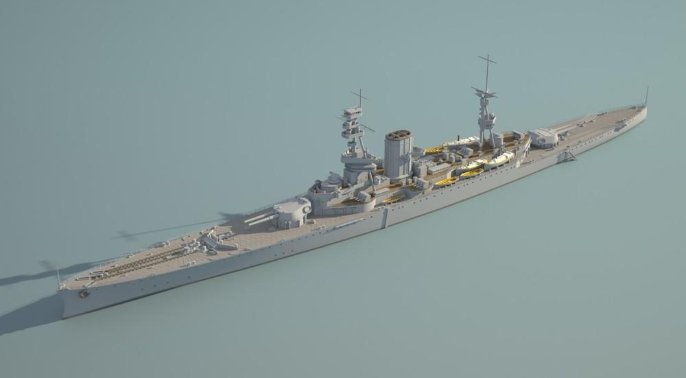 1/350 HMS 쾨니히 작업4