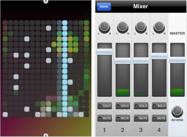 아이폰 음악 연주 시각적으로 사운드 만들기와 공유 Beatwave