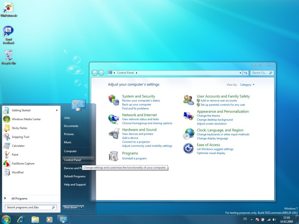 03 Windows 7 Build 7032 Screenshots