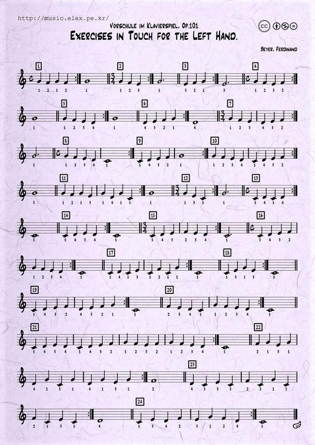바이엘 : 피아노 기초를 위한 오른손 연습