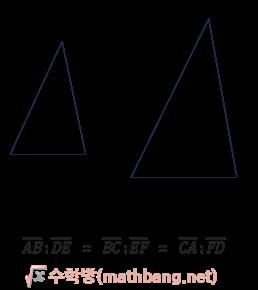 삼각형의 닮음 조건 1 - SSS 닮음