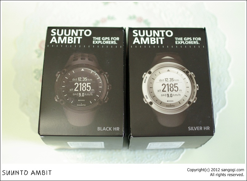 SUUNTO AMBIT BLACK & SILVER HR 모델