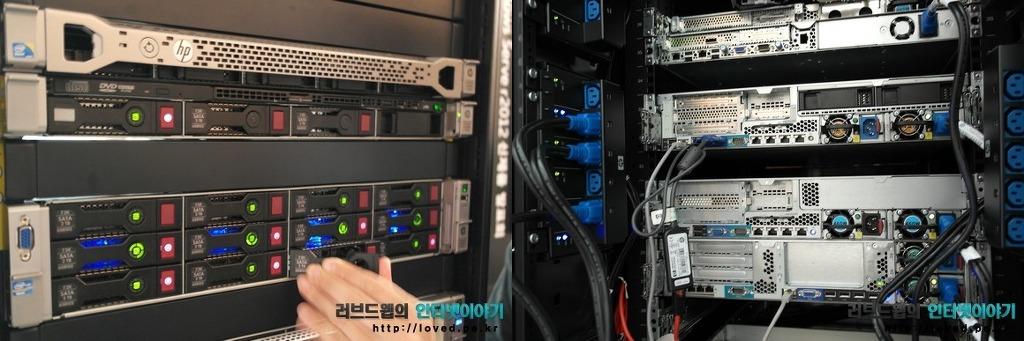 윈도우 서버 2012 신제품 발표에 전시된 서버들