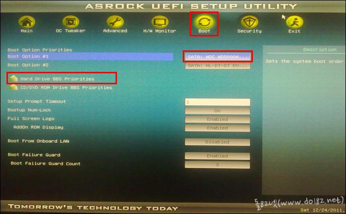 ASRock(에즈락) UEFI - 부팅순서