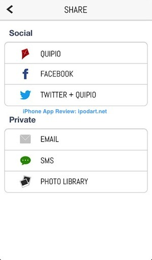 Quipio 아이폰 사진 타이포그래피 인용문 생각 공유