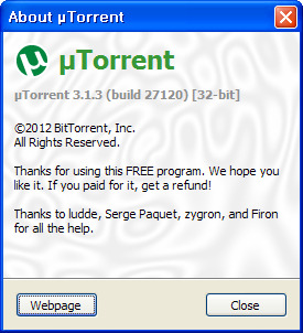 유토렌트(utorrent/µTorrent) v.3.1.3 build 27120 - 토렌트, 마그넷 다운로드