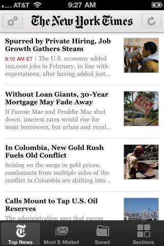 아이폰 뉴스 어플 뉴욕타임즈(iPhone New app New York Times- NYTimes)
