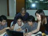 2004년 12월 16일 반 친구들과 함께