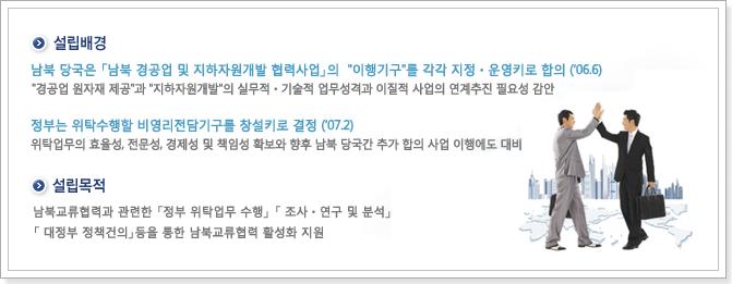 (사)남북교류협력지원협회 설립목적