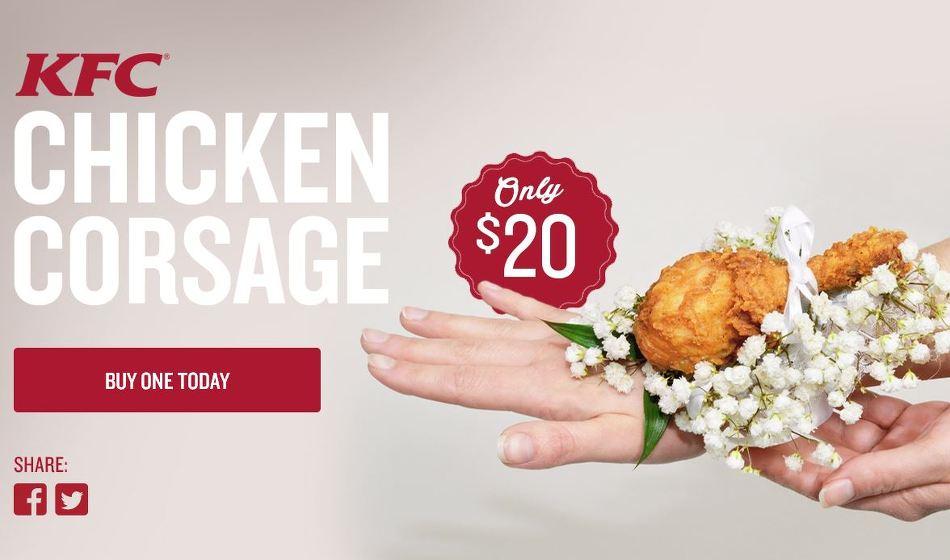 거절할 수 없는 선물, 치킨으로 만든 코사지 액세서리 - KFC의 온라인 바이럴 영상 '치킨 코사지(Chicken Corsage)'편 [한글자막]