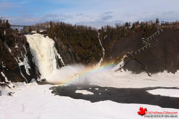 캐나다 동부 퀘벡시티 여행 몽모랑시 폭포
