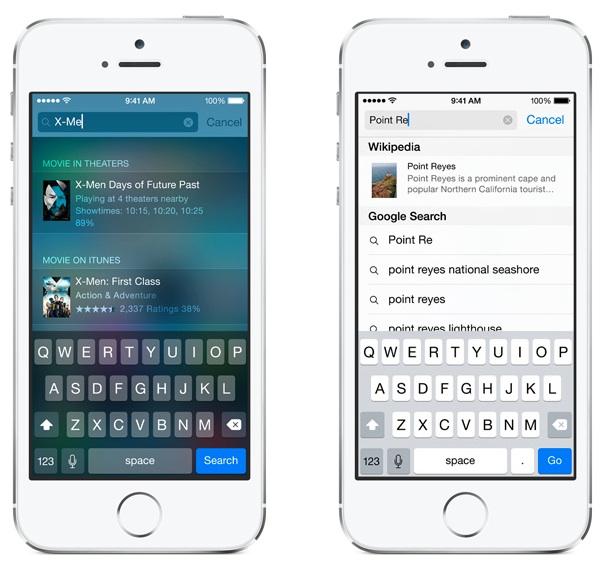 iOS8 스팟라이트 검색