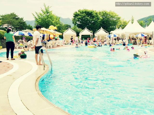춘천 라데나콘도 야외수영장