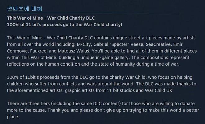 디스 워 오브 마인 (This War of Mine) - War Child Charity DLC