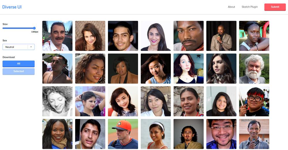 다양한 국적/인종/연령의 평범한 사람들의 무료 이미지를 다운로드 받을 수 있는 : Divers UI