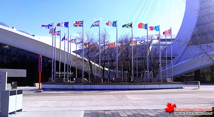 캐나다 몬트리올 올림픽 공원 만국기