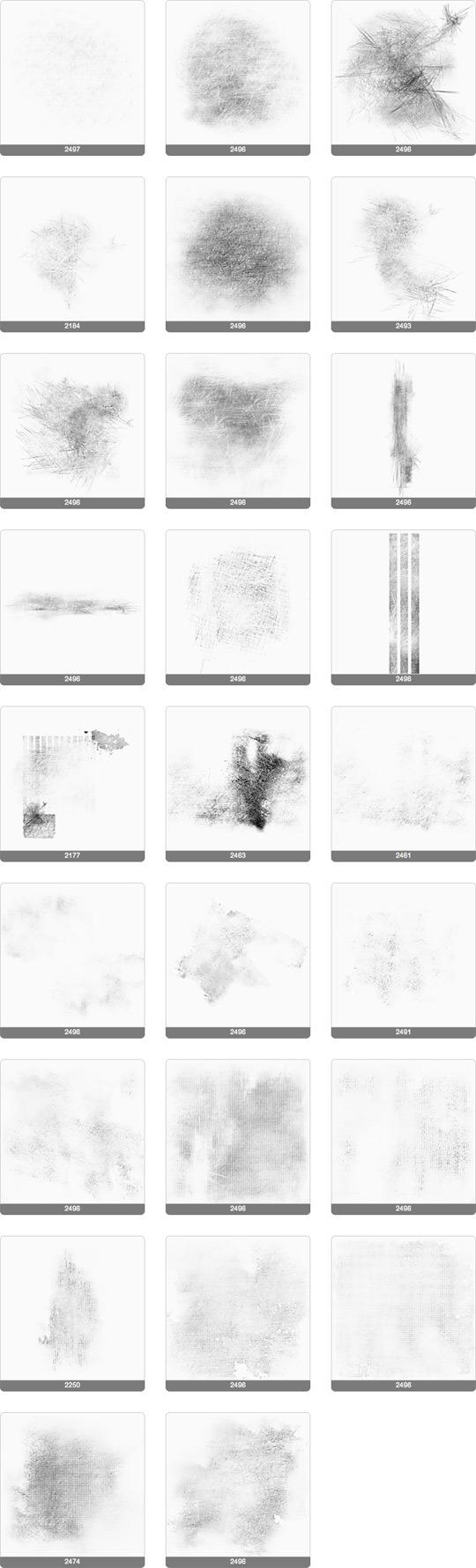 26 가지 무료 포토샵 그런지_스머지_스크래치 브러쉬 - 26 Free Mellow Mess_Scratch_Smudge_Subtle_Timeworn Photoshop Brushes