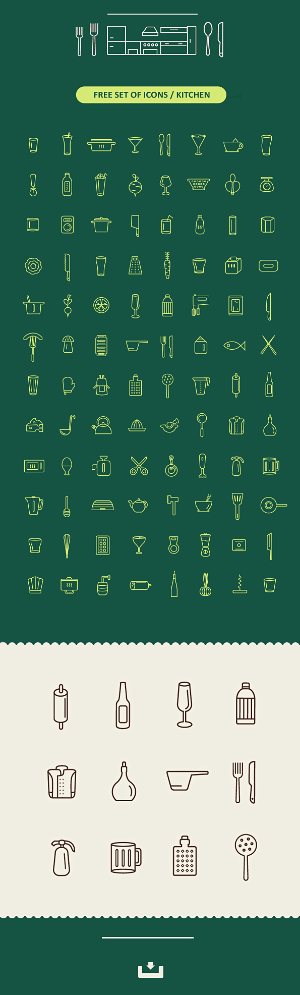 96 가지 무료 벡터 키친/주방/요리 아이콘 - 96 Free Vector Kitchen Icons