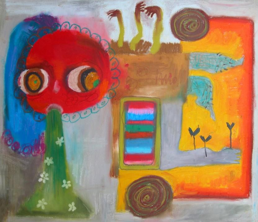 생산적 구토 _ Oil pastel on canvas _ 53×45 _ 2006 (Sold Out)