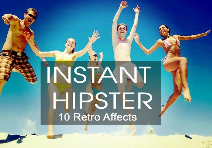 10 가지 인스턴트 힙스터 레트로(instant hipster retro) 포토샵 액션 - 10 Free Instant Hipster Retro Photoshop Action