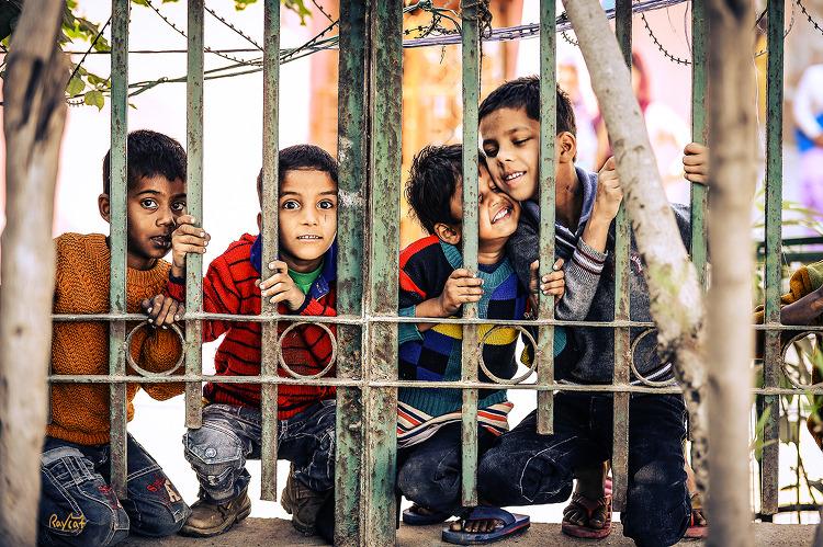 인도 빈민가의 아이들