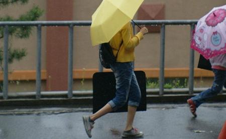비오는날_노란우산