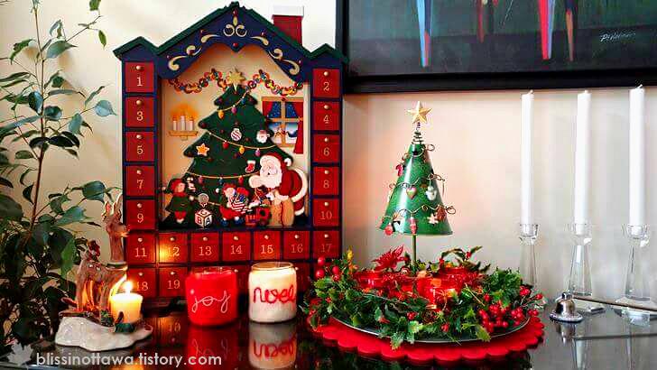 크리스마스 캔들 장식품 입니다
