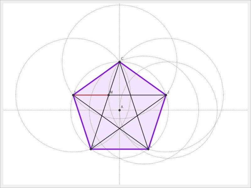 지오지브라 | 정오각형과 황금비율
