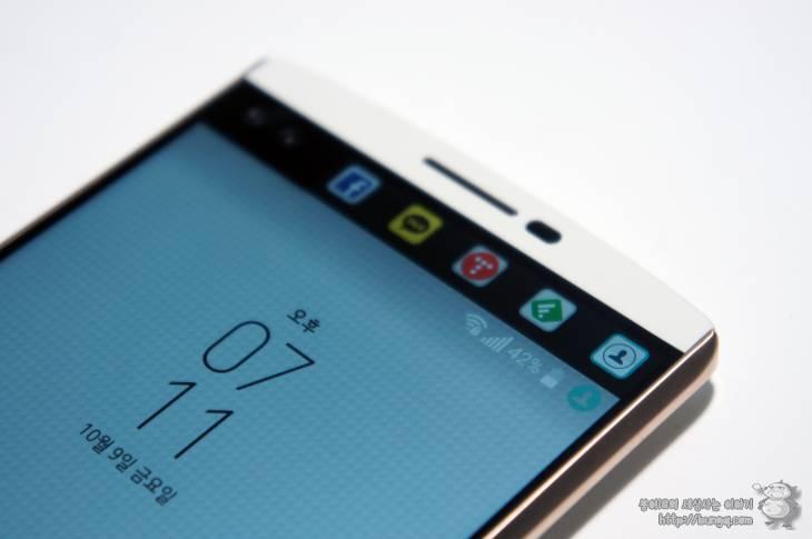 LG V10 UI 후기, 세컨드스크린과 지문인식