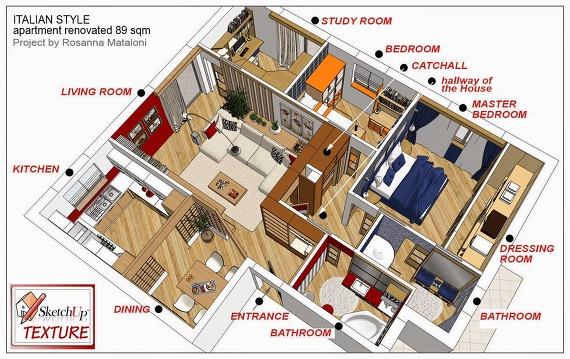 구조가 깔끔해서, 웹툰 등에 사용하기에도 무척 좋을 ...: s.elfism.com/entry/멋진-아파트내부-모델을-다운받아...