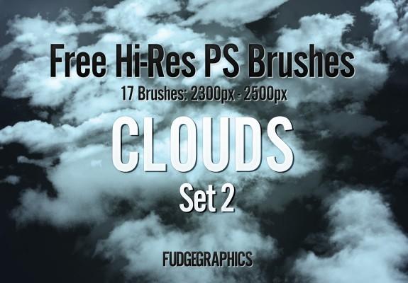 17 가지 구름(clouds) 포토샵 브러쉬 - 17 Free High-Resolution Clouds Photoshop Brushes
