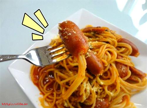 소세지 토마토 스파게티