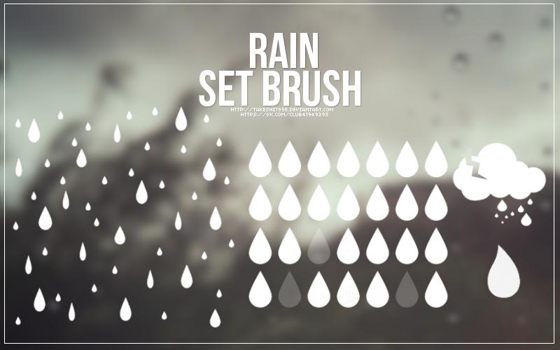 무료 포토샵 비/빗방울 브러쉬 - Free Photoshop Rain Brushes