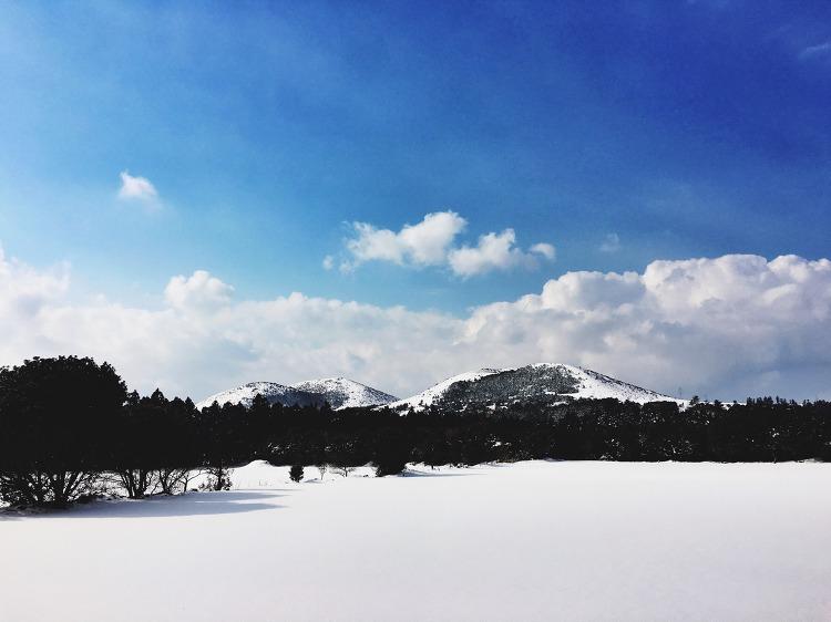 오름 그리고 겨울
