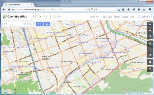 OSM 지도 직접 개선하기... (for 가민 등등등...)