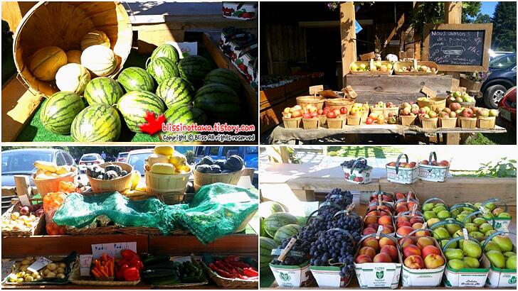 퀘벡 주 농장 농산물