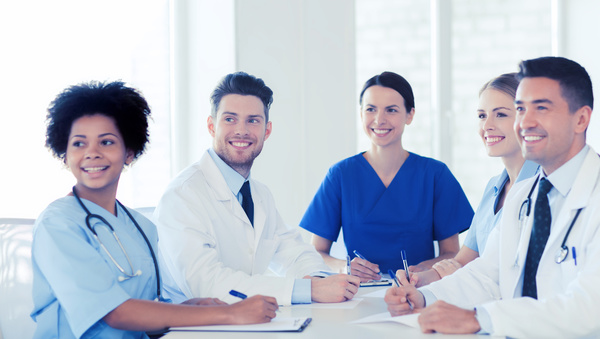 Free Stock Photo JPG file Group of happy doctors at hospital Stock Photo 02