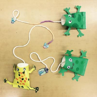 파리 꿀꺽 개구리 장난감 만들기