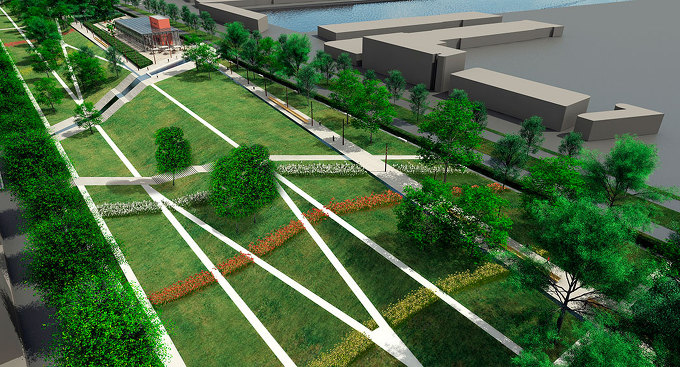 Buro sant en co four harbour roof park for Garden designer milano