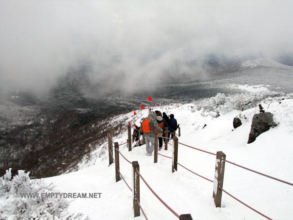 눈꽃 내린 겨울철 한라산, 어리목 영실 코스 산행 - 5 영실 코스