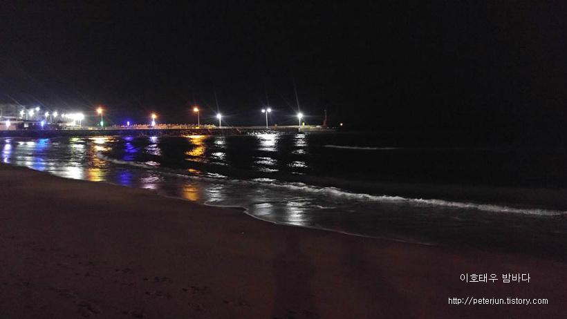 이호태우 밤바다